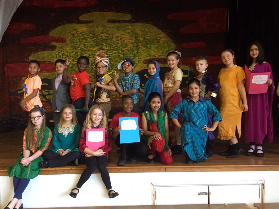 We recently had a Diwali assembly in the Juniors.